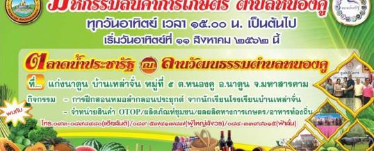 เชิญชมและเลือกซื้อสินค้าการเกษตรตำบลหนองคู